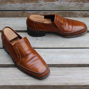 VTG 70s Tan Venetian Loafer, Burnished Calfskin